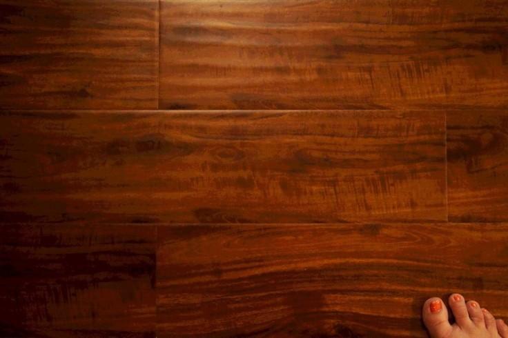 barefoot wood floor